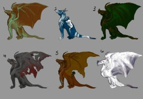 OPEN ~ Dragon Adoptables (Paypal Only) by mec-canic