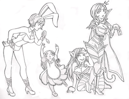 LoL in Wonderland (lineart) by SpigaRose