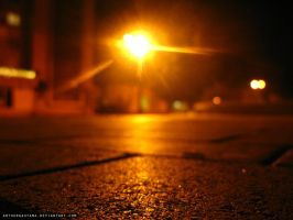 Night roadway by ArthurGautama