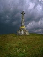 Premade Celtic Cross on Hill by simfonic