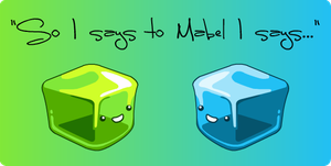 Gel cubes by midnightheist