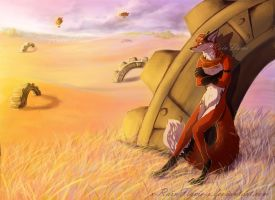 In the Setting Sun- Commission by x-RainFlame-x