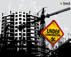 Free Vector Buildings Under Construction by Stockgraphicdesigns