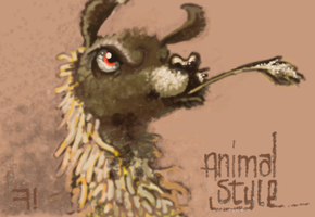 ANIMAL STYLE, MR LLAMA by draweverywhere