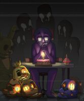 Five nights at Freddy's 3 _ Purple guy by dalsegno2525