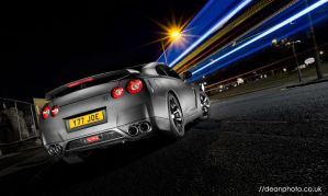 Nissan GTR R35 Matte Black by dean-photo