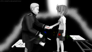 MMD Ib and Hetalia Crossover by Noir74