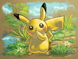 Pikachu [Apprentice] ~ Pokemon Art Academy 3DS by qstarfire