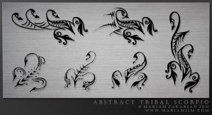 Abstract tribal scorpio tattoos by mariamism