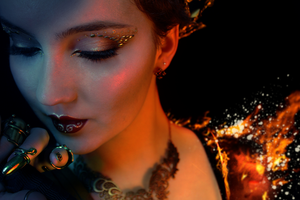 Girl on Fire by KlairedeLys