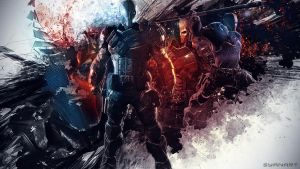 Batman Arkham Origins DeathStroke Wallpaper by TheSyanArt