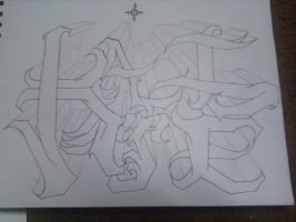 Katie's Name Sketch 1 by Toast007