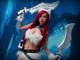 Kitty Cat Katarina Cosplay by RinnieRiot