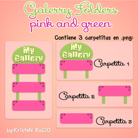 Gallery Folders pink and green by RoohEditions