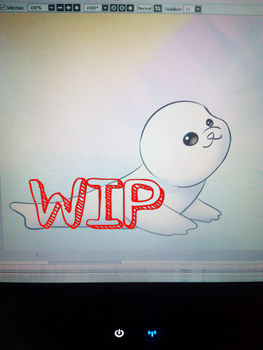 COMMISSION : Baby seal WIP by Neko14senpai