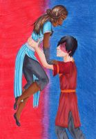 Red and Blue by NinasNon-Sense