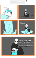 Ask Sansby and son #49 - the core by TheNightmareGirls
