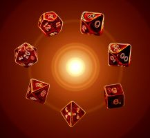 Dices of fire by Croc-blanc
