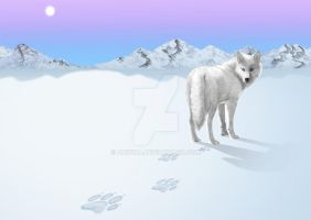 Wolf Tracks by Arivina