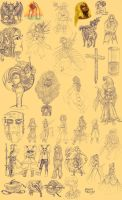 Sketch Compilation 2004 - 2009 by Paola-Tosca