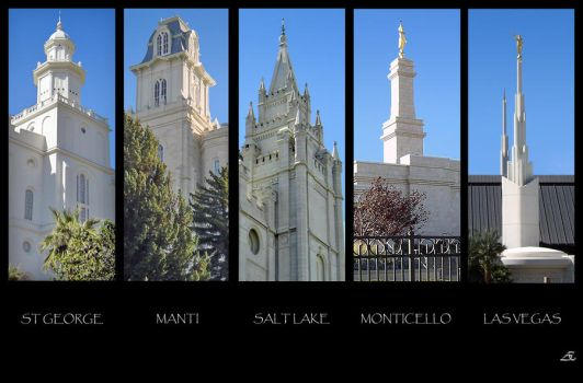 LDS Temples by AEast