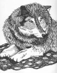 Resting Wolf by KB-Shine