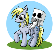 Derpy Hooves and Box Ghost by xkappax