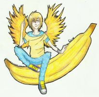 Keep calm and ride a banana 8D by Sesemonda