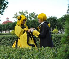 Cosplay Kagamine Rin and Len49 by NakagoinKuto