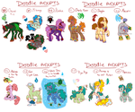 Doodle Pony adopts 14, 15, 16, 17 CLOSED by Sarahostervig