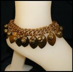 Gold tone scale and bell ankle by BacktoEarthCreations