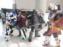 Anime Expo Day 4- Liger Zero and the Gundam by MidnightLiger0