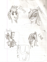 Pony sketch things by UndeadParadox