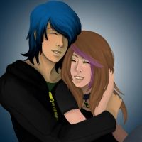 Commission- Emochu and Haley by Lilith-the-5th