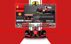 Ferrari Web Layout by codeturk