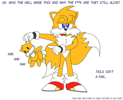 Tails is not a fan by dragonsteincole