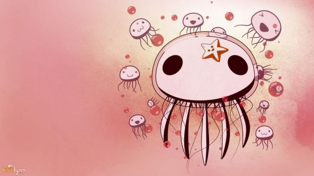Jellyfish Wallpaper Revisited by CrappyMornings