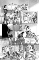 Harley Quinn  Issue # 2 Page 3 Inks with Greytones by StephaneRoux