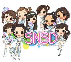 SNSD KISSING YOU chibis by squeegool