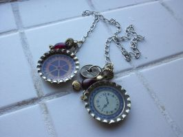 Steampunk-esque chain bookmark by estranged-illusions