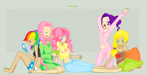 Slumber Party Time by animedeath553