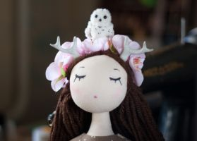 Sakura with owl by freedragonfly