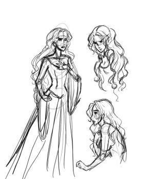 Kate Sketches by whimsicalcow