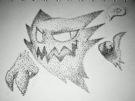 Haunter - Stippled by BlumanX