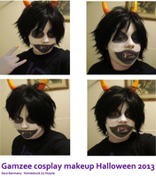 Homestuck Gamzee Makeup by SaraCorgi