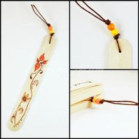 Sold - Bookmark - Wood - Pyrography - Flower (A by SuniMam