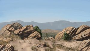 Desert Landscape by LJFHutch
