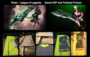 Riven Sword WIP and Finished Product by ScissorWizardCosplay