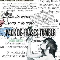 +Pack de Frases Tumblr by ComeAndTakeMyHand