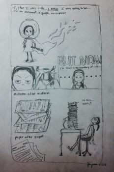The Reality of a College Student by jingann